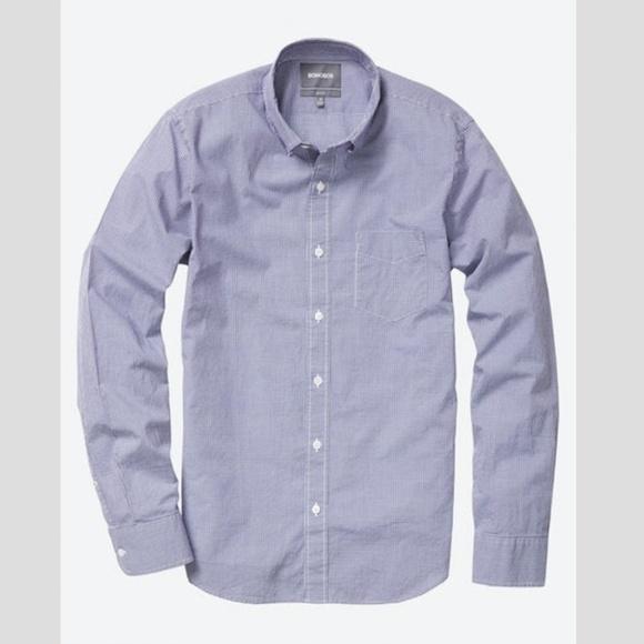 71aa7fa4ea64 Bonobos Other - Bonobos Tailored Slim Shirt - Navy Mini Gingham